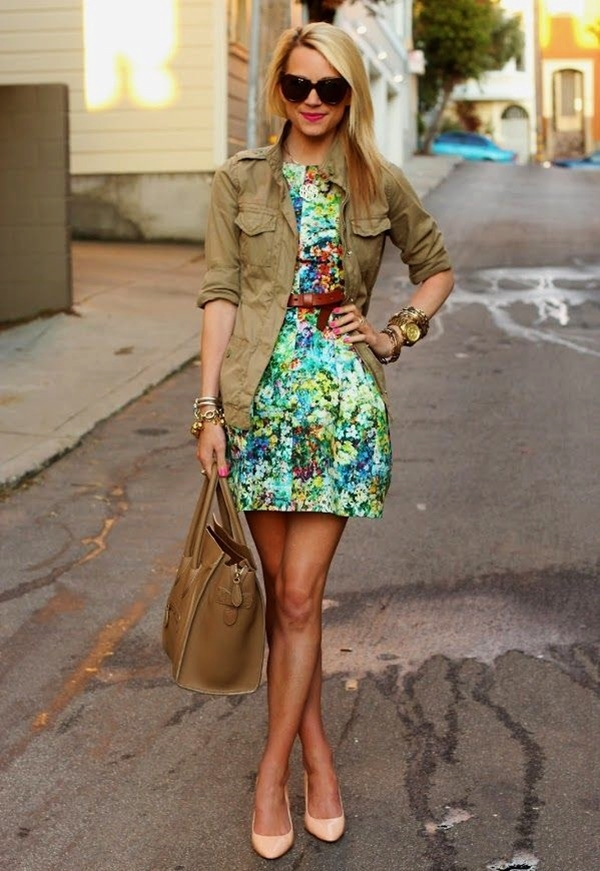 Cute Floral Print Summer Attires1