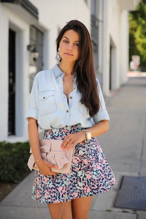 Cute Floral Print Summer Attires2.3