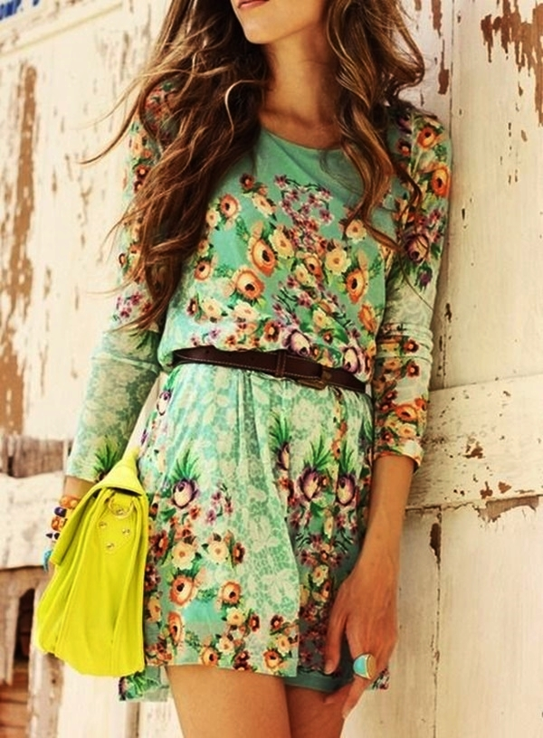 Cute Floral Print Summer Attires20