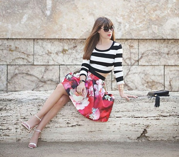 Cute Floral Print Summer Attires2