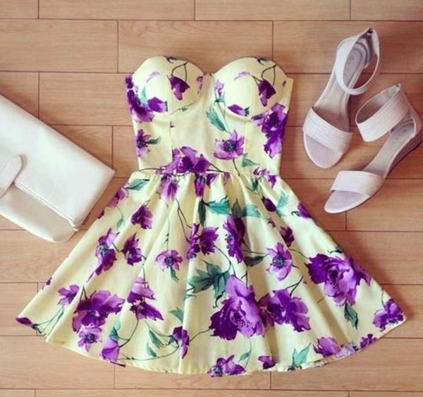 Cute Floral Print Summer Attires30
