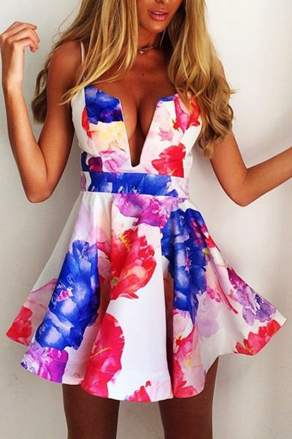Cute Floral Print Summer Attires35