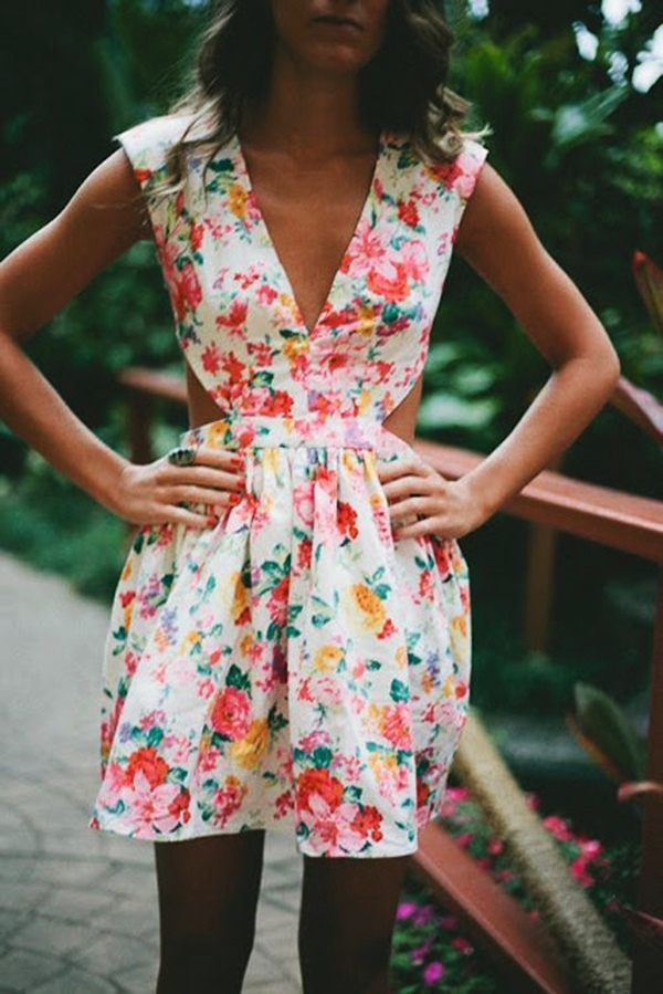 Cute Floral Print Summer Attires37