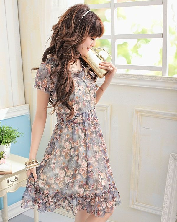 Cute Floral Print Summer Attires40
