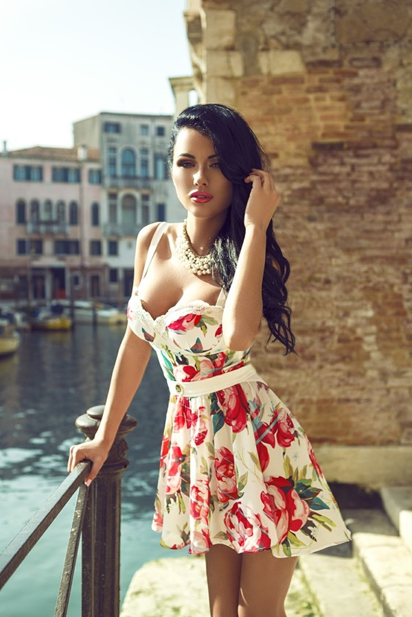 Cute Floral Print Summer Attires5.2
