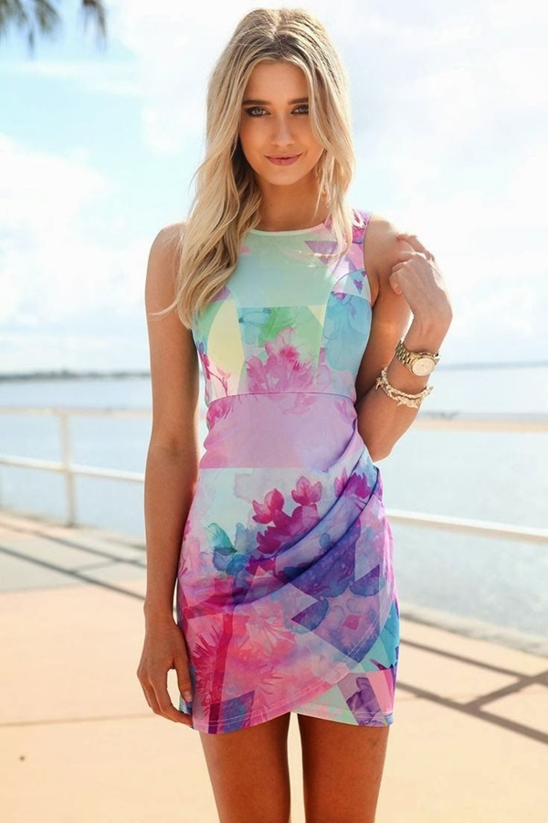 Cute Floral Print Summer Attires7