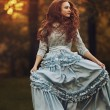 photo-vintage-redhead-romance-girl-autumn-dress-bokeh-sunset-hd-wallpaper