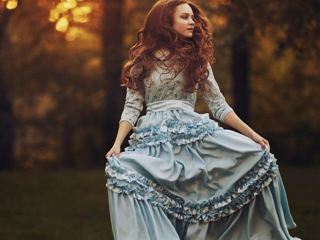 photo-vintage-redhead-romance-girl-autumn-dress-bokeh-sunset-hd-wallpaper