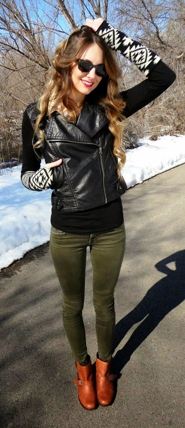 Leather Jacket Outfit (5)