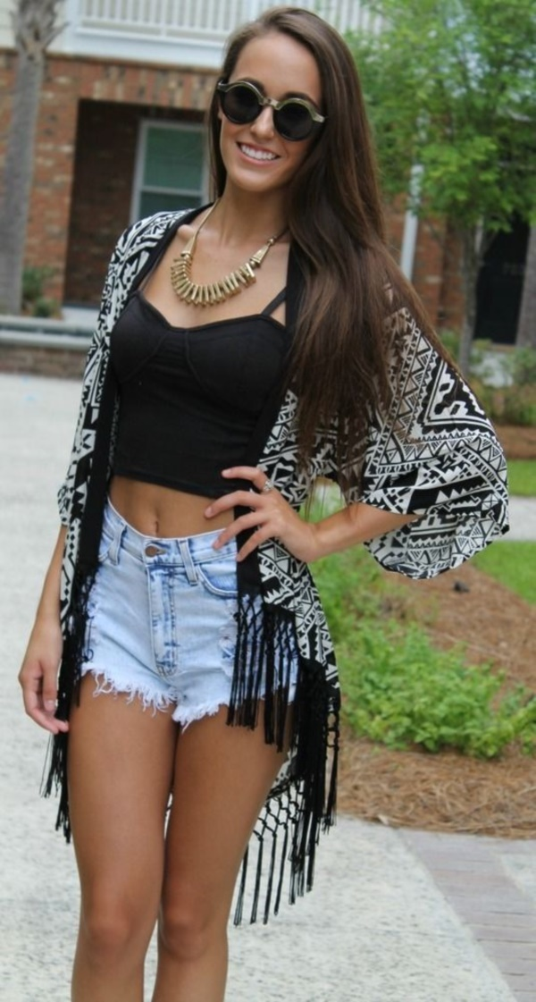 Styling Ideas to wear high waisted Shorts and Jeans0011