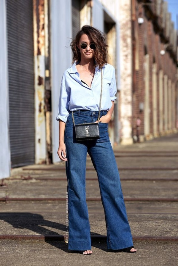 Styling Ideas to wear high waisted Shorts and Jeans0041