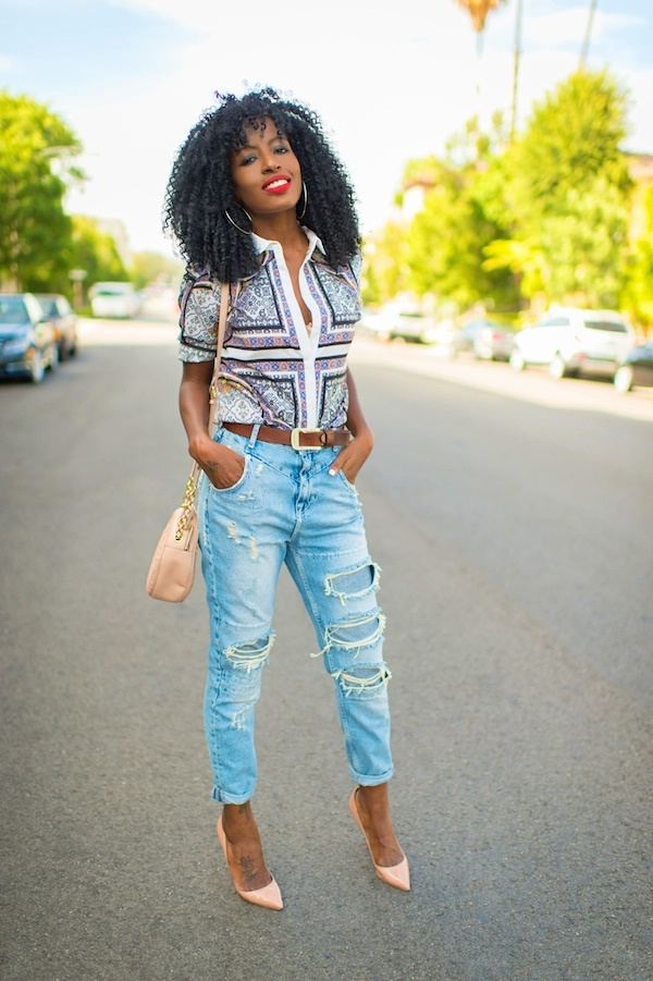 Styling Ideas to wear high waisted Shorts and Jeans0081