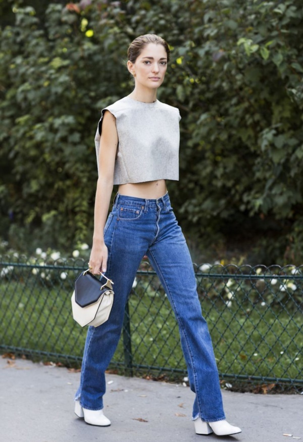 Styling Ideas to wear high waisted Shorts and Jeans0151
