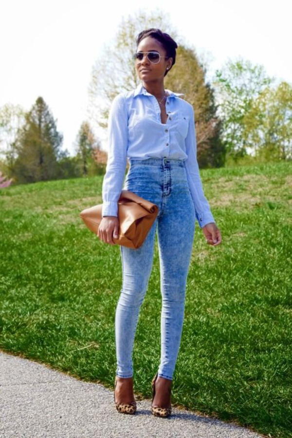 Styling Ideas to wear high waisted Shorts and Jeans0171