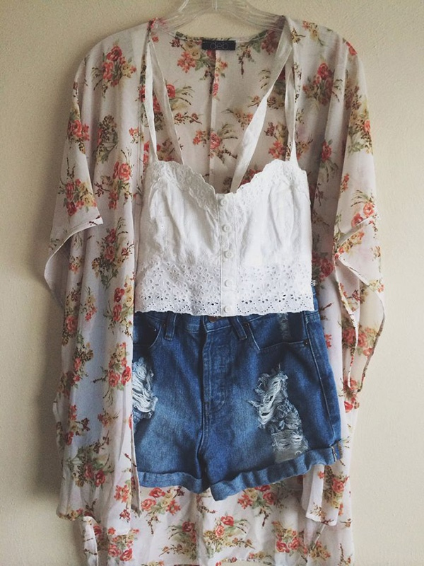 Styling Ideas to wear high waisted Shorts and Jeans0191
