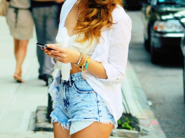Styling Ideas to wear high waisted Shorts and Jeans0261