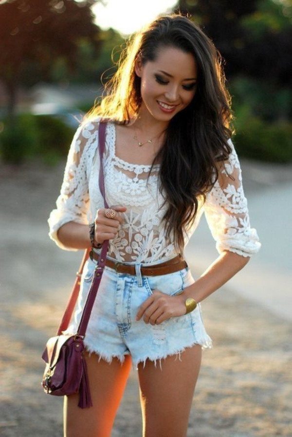 Styling Ideas to wear high waisted Shorts and Jeans0431
