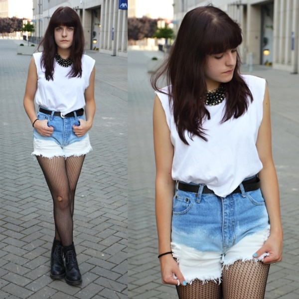 Styling Ideas to wear high waisted Shorts and Jeans0481