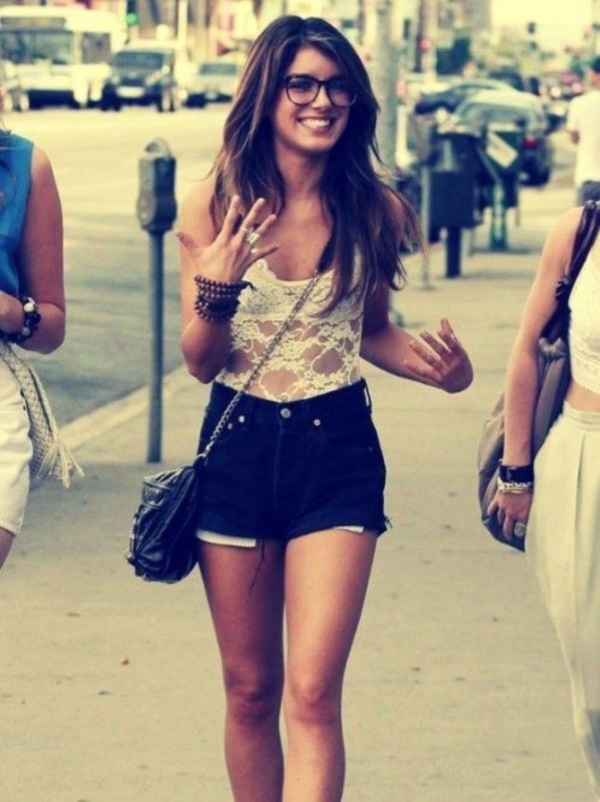 Styling Ideas to wear high waisted Shorts and Jeans0521