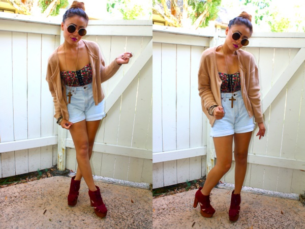 Styling Ideas to wear high waisted Shorts and Jeans0531