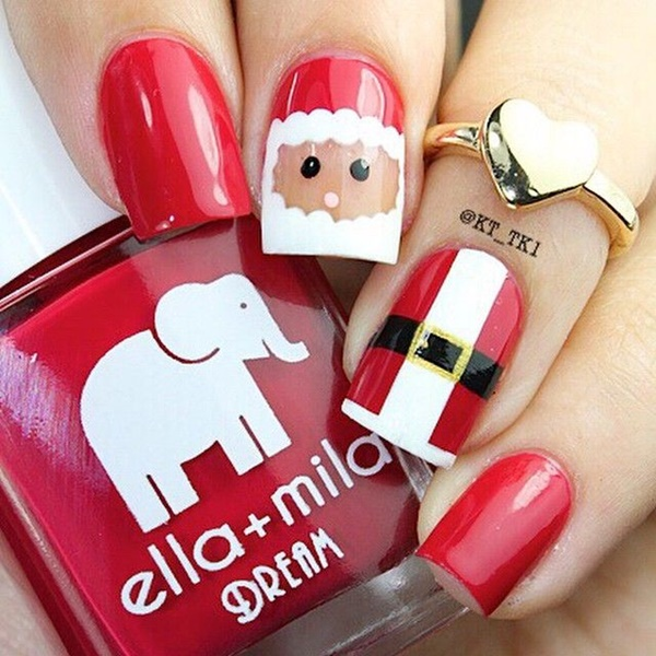 Santa Claus Nail Art: 60 Christmas Nail Art Designs And Ideas For 2016