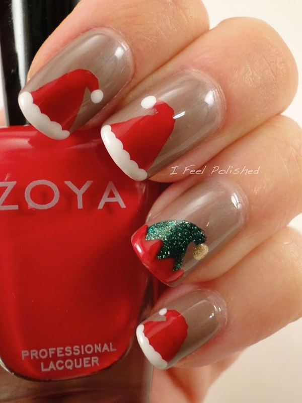 Christmas Nail art Designs and Ideas13