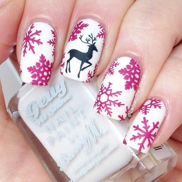 Christmas Nail art Designs and Ideas17