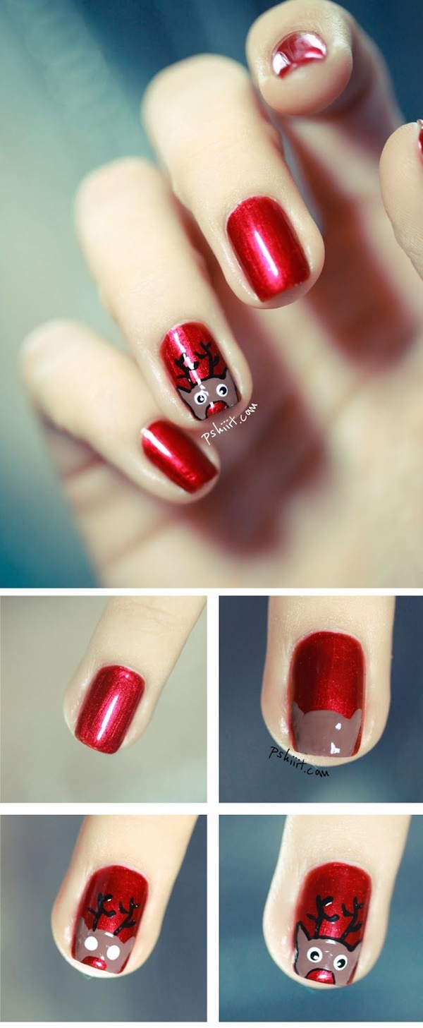 Christmas Nail art Designs and Ideas2