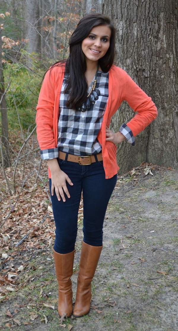 Latest Fall Fashion Outfits with Boots for Teen (5)