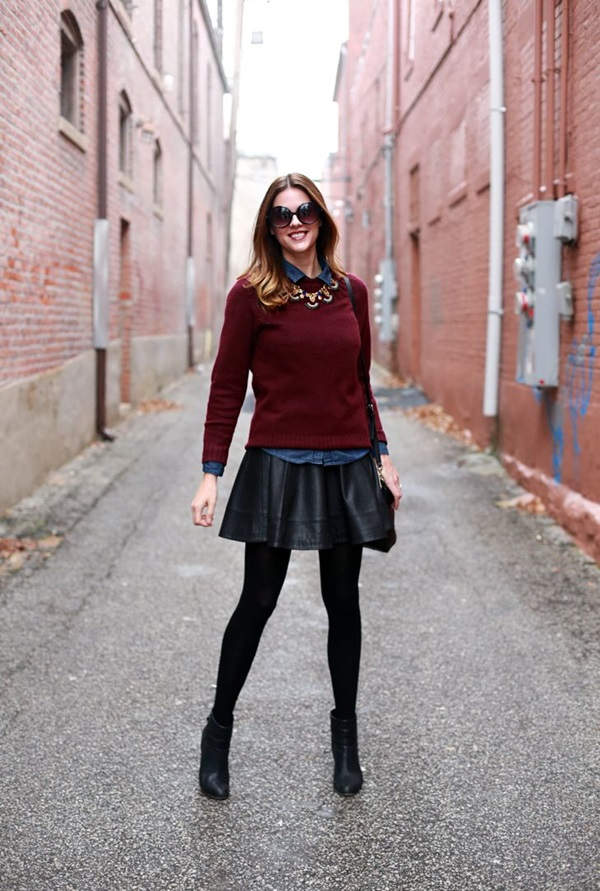 Latest Fall Fashion Outfits with Boots for Teens (1)