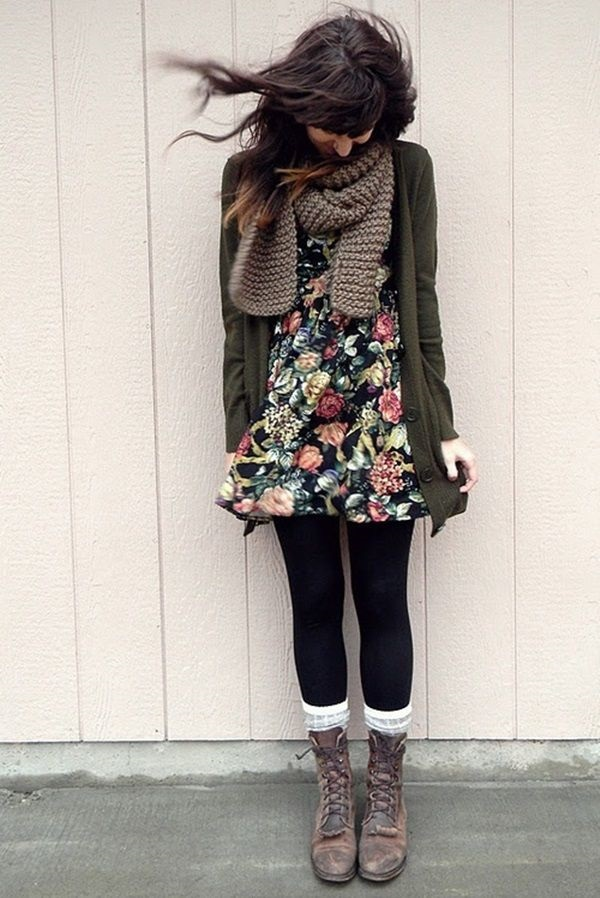 Latest Fall Fashion Outfits with Boots for Teens (15)