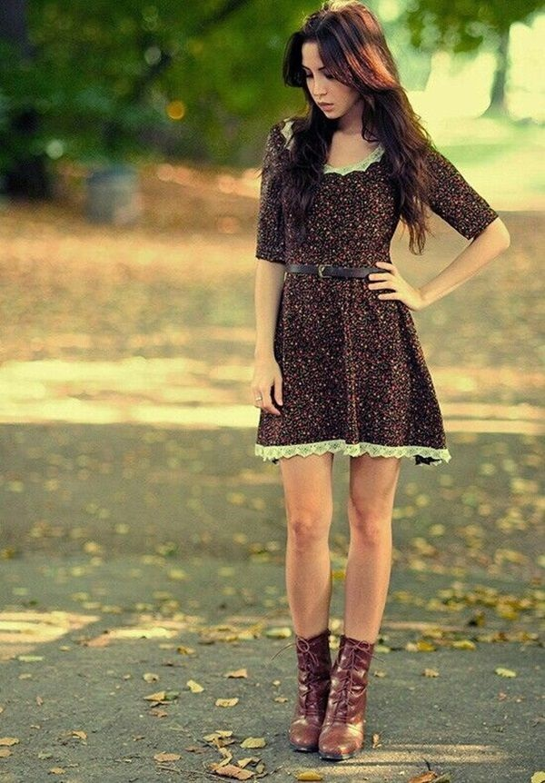 Latest Fall Fashion Outfits with Boots for Teens (19)