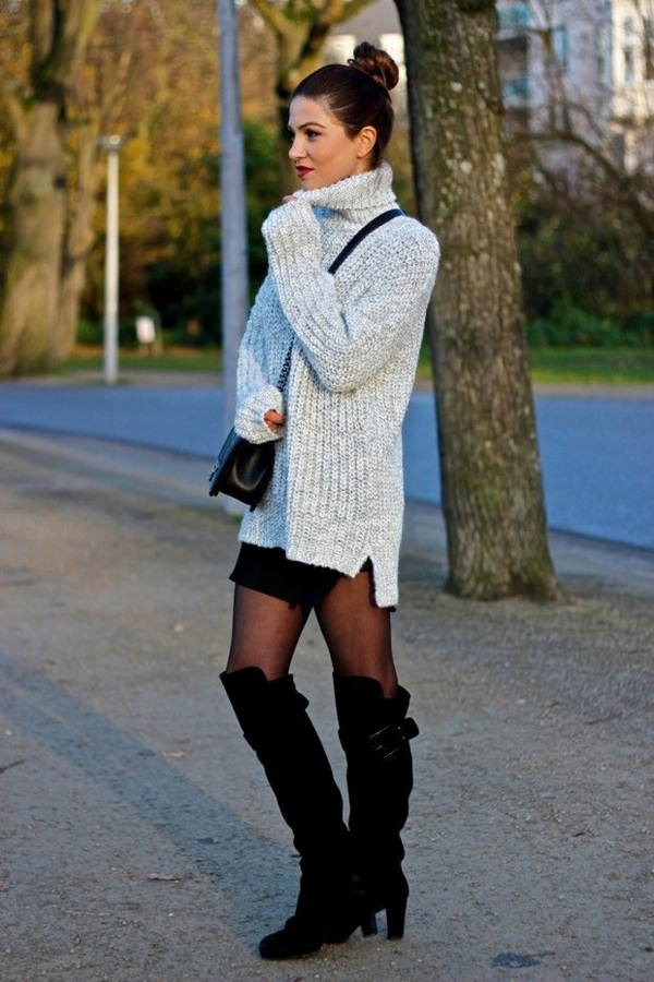 Latest Fall Fashion Outfits with Boots for Teens (4)