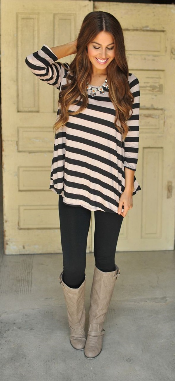 Latest Fall Fashion Outfits with Boots for Teens (8)