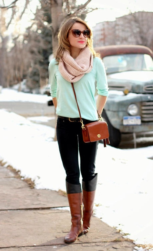 Chic Sweater Outfits for Teens (1)