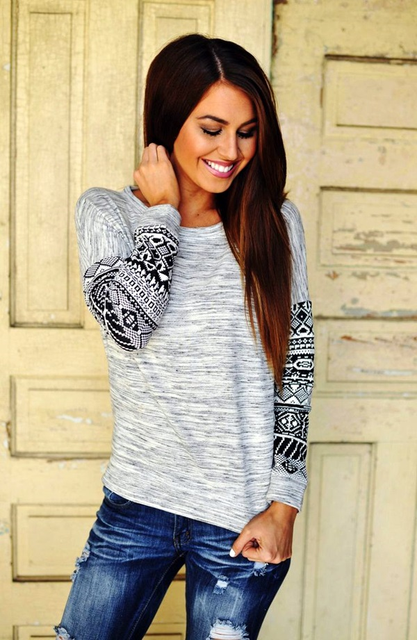 Chic Sweater Outfits for Teens (5)