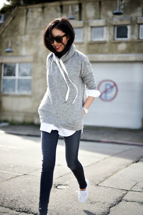Chic Sweater Outfits for Teens (9)