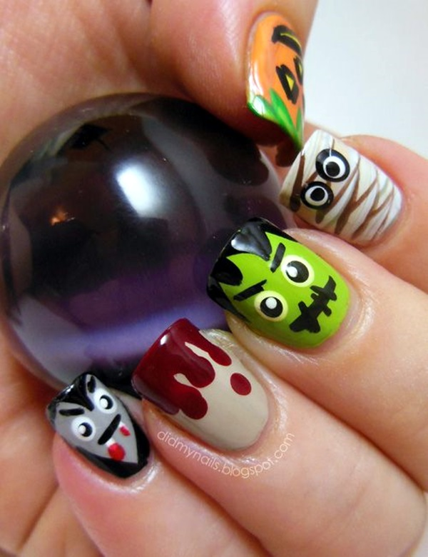 Halloween Nail Art Designs and Ideas (7)