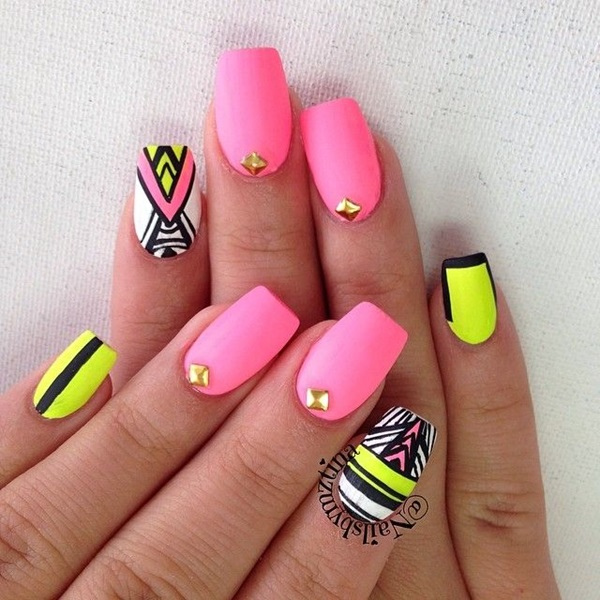 Quick Nail Art Ideas for Office Women (3)