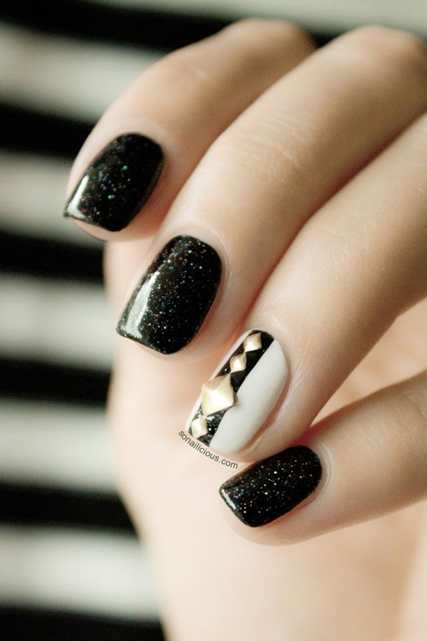 Quick Nail Art Ideas for Office Women (5)
