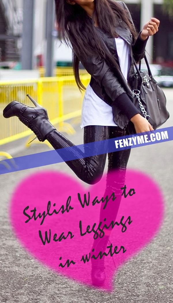 Stylish Ways to Wear Leggings in winter1.1