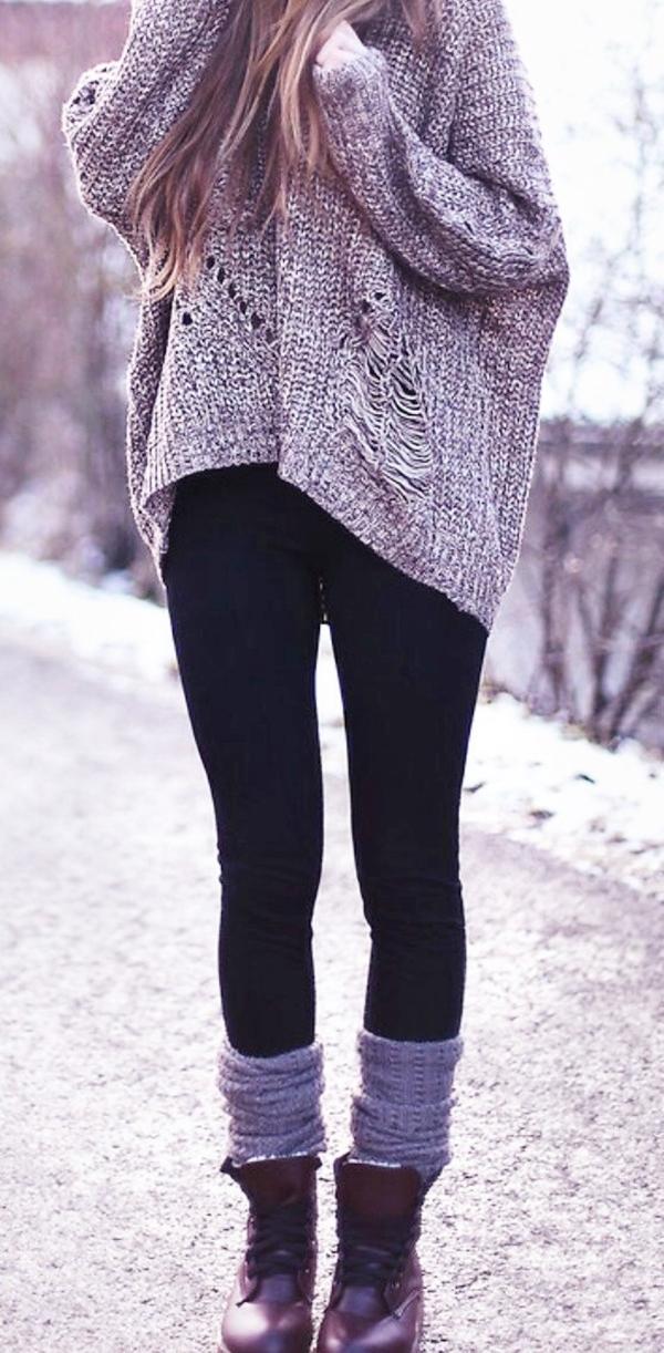 Stylish Ways to Wear Leggings in winter1