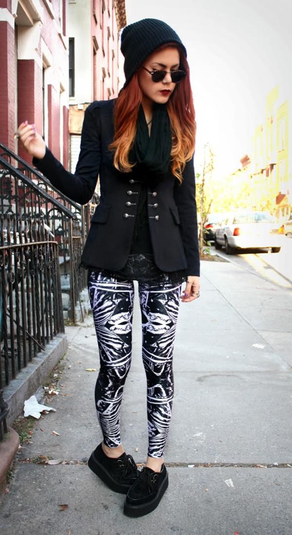 Stylish Ways to Wear Leggings in winter11