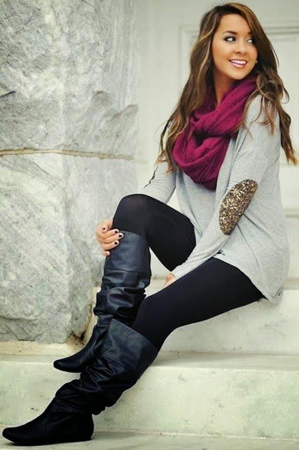 Stylish Ways to Wear Leggings in winter15