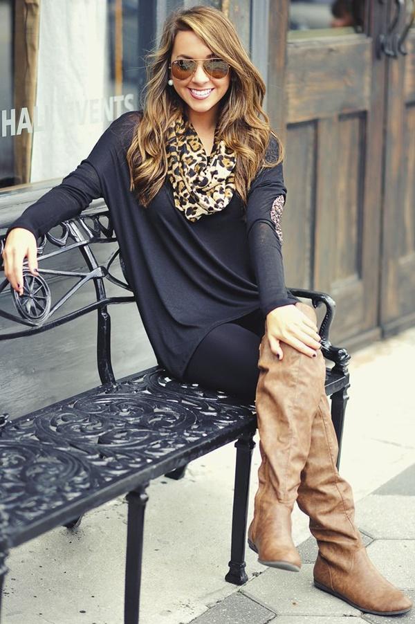 Stylish Ways to Wear Leggings in winter17