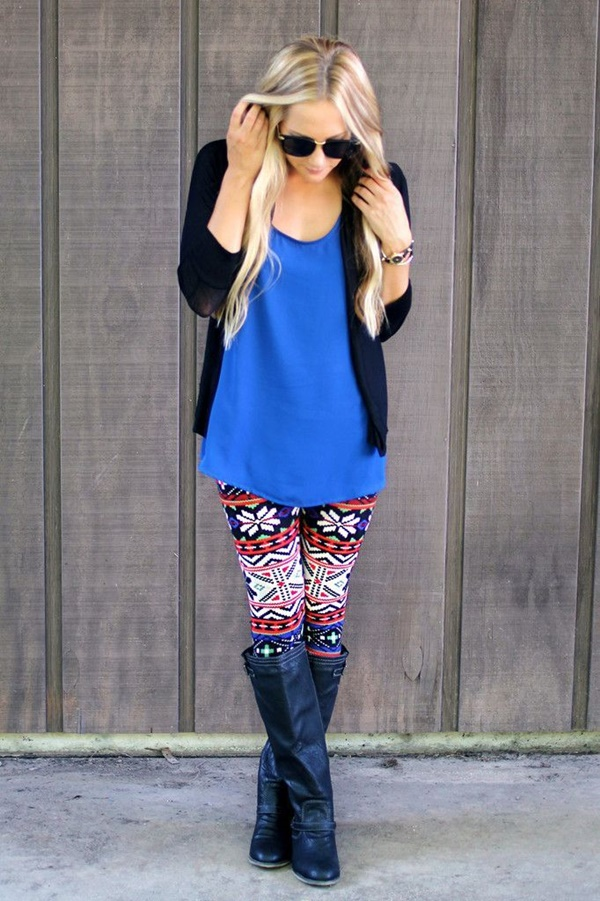 Stylish Ways to Wear Leggings in winter19