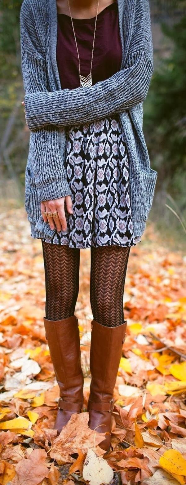 Stylish Ways to Wear Leggings in winter32