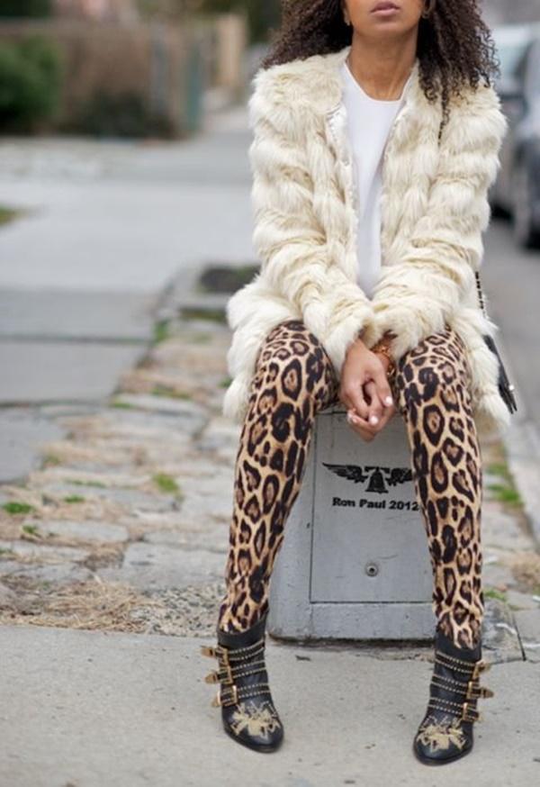 Stylish Ways to Wear Leggings in winter35