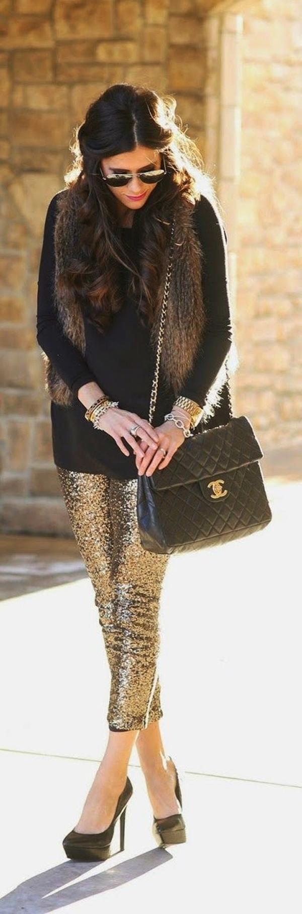 Stylish Ways to Wear Leggings in winter36