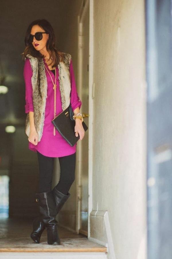 Stylish Ways to Wear Leggings in winter37
